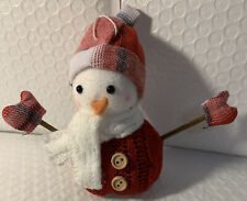 Bath And Body Works 2020 Red  Snowman 3-wick Candle Magnet