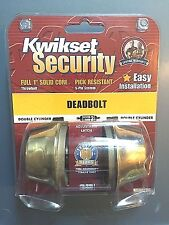 NIP Kwikset Security Deadbolt Grade 3 Double Cylinder Polished Brass