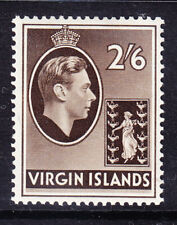 BRITISH VIRGIN IS GVI 1938 SG118 2/6 sepia chalky paper mounted mint. Cat £70
