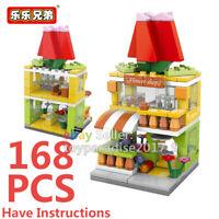 City Street Florist Flower Shop Mini Blocks Building Brikcs View Model Toy