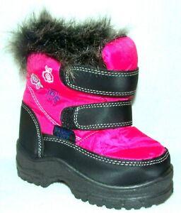 NEW STORM KIDS PINK BLACK TODDLER GIRLS WINTER SNOW BOOTS 6 M