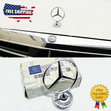 For Mercedes-Benz OEM Front Hood Ornament Mounted Star Logo Badge Emblem NEW US