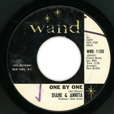 """DIANE & ANNITA promo 45:  """"One By One / Why Do You Take So Long...""""  1965  VG"""
