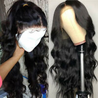 Glueless Body Wave Lace Front Wig Brazilian Pure Human Hair Silk Top Full Wigs P