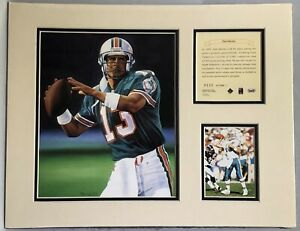 1995 Dan Marino Miami Dolphins Matted Kelly Russell NFL Lithograph Print #330