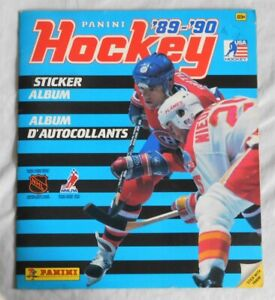 1989-90 NHL PANINI Hockey STICKER ALBUM Complete
