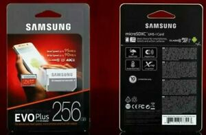 SAMSUNG EVO Plus 256GB MicroSD Micro SDXC CLS 10 Flash Memory Card w/ SD Adapter