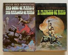 LOT/2 BOOKS,THE GODS OF MARS & THE WARLORD OF MARS, A PRINCESS OF MARS,BURROUGHS