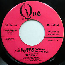 THE DEEPS 45 Night Is Young &.. / Calypso Rock N Roll VG++ Doo Wop ORIG e6635