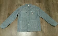 POINTER BRAND FISHER STRIPE BANDED COLLAR Chore Coat railroad workwear jacket