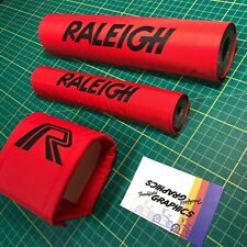 More details for mk1 raleigh 'mini' burner padset in red - old school bmx pad set