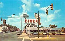 Bryan OH Lester's Diner Old Cars Postcard