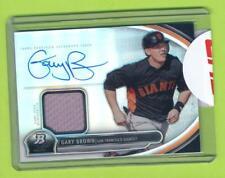 2013 Bowman Platinum Jersey & Auto - Gary Brown (AR-GB)  San Francisco Giants