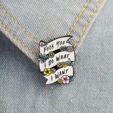 Do What I Want Feminist Jewelry Badge Button Collar Lapel Brooch Enamel Pin