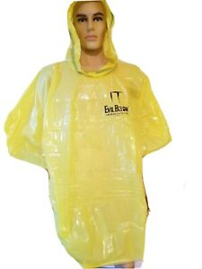 Rare SDCC IT Evil Below Adult Rain Poncho Usaopoly PennyWise Georgie NIP Con