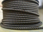 Black/Brown 2-Wire Flat Cloth Covered Cord, Fabric 18ga Vintage Style Lamps, USA