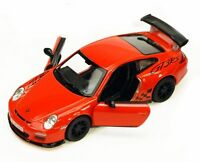 New Kinsmart 2010 Porsche 911 GT3 RS Diecast Toy Model 1:36 Pull Action Orange