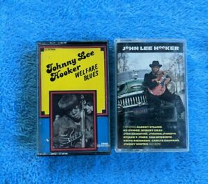 JOHN LEE HOOKER 2 Cassette Tape Lot Blues Mr. Lucky Welfare Blues
