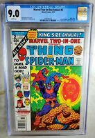 Marvel Two-In-One Annual #2 NEWSSTAND 1977 CGC 9.0 VF/NM White Pages Comic M0030