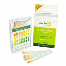 Simplex Health Alkaline pH Test Strips for Urine & Saliva (100 Strips per Pack)