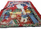Susan Winget 1994  fabric traditions Santa Christmas craft fabric panel crafts.