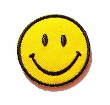 Petit écusson patch thermocollant brodé Smile, Smiley, Sourire, Happy