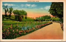 Postcard Meadow Road Maine