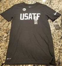 New listing Nike Track And Field T-Shirt Sample Size Small USATF BLACK