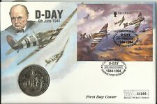GB / GUERNSEY QE11 1994 D-DAY TWO POUNDS COIN COVER 21266