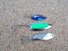 3 Vintage Fishing Spoons Little Cleo 1/4oz, Blue Fox Pixee & Kastmaster 1/2oz