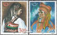 Norwegen 1017-1018 (kompl.Ausg.) postfrisch 1989 Volkstrachten