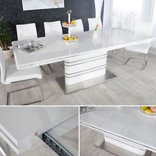 Ausziehbarer Design Esstisch ATLANTIS weiss hochglanz 160-220cm Konferenztisch