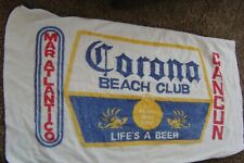 Corona Beer Beach Club Vintage 90's Cancun Mexico Beach towel 32x68