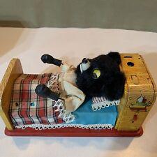 """1950's Marx Line-Mar 9.5"""" Battery-Op Tin Sleeping Baby Bear Mint In Box"""