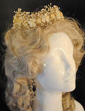 ROMANTIC 1920's  WEDDING BRIDAL WAX PETALED BLOSSOMS TIARA HEADPIECE