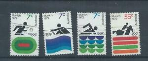 Australia stamps. 1972 Olympic Games used SG518 - 521 (Q140)