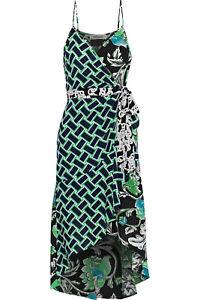 NWT! Diane von FurstenbergKatsia Printed Sleeveless Wrap Dress, Sz 8