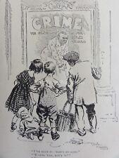 Ww1 1916 Calle Erizos visualización Cine Poster-Crimen Punch Cartoon 31 De Mayo