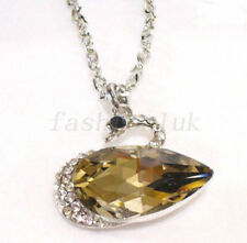 Cubic Zirconia White Gold Plated Crystal Costume Necklaces & Pendants