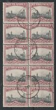 SOUTH AFRICA 1927 UNION BUILDINGS 2D LONDON PRINTING USED BLOCK PERF 14