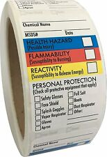 """SDS Stickers / MSDS Stickers, 250 Adhesive Labels, 1.5""""x2.5"""", Chemical Marking"""