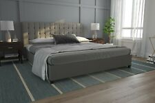 DHP Emily Linen Upholstered Bed
