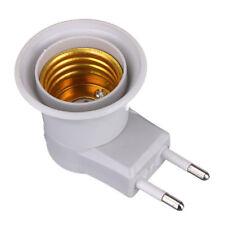 Button On-off Control E27 LED Socket To EU Plug Adapter Light Bulb Lamp Holder