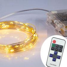Micro Draht Lichterkette mit Fernbedienung und Timer - 50 LED warmweiß - Außen