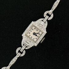 Vintage BLANCPAIN PLATINO 3.0ctw Baguette & Individual Talla Diamante Reloj