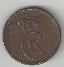DENMARK,  1889,    1 ORE,   KM#792.1,   BRONZE,    EXTRA FINE