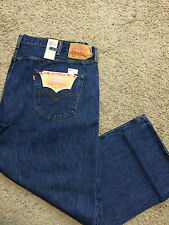 NWT Levi's 501 BIG & TALL 58X32 Straight Leg Button Fly Dark Stonewash MSRP $74