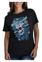 Harley-Davidson Women's Embellished Sugar Skull Short Sleeve T-Shirt - Black