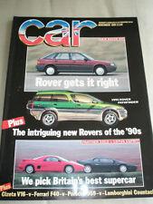 Car Nov 1989 Cizeta V16 vs Ferrari F40 vs Porsche 959 vs Lamborghini Countach