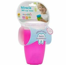 NEW Munchkin Miracle 360° Cup 10 oz, PINK -1 Each NIP